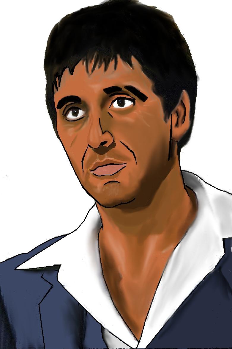 Tony montana scarface by djray1985 on deviantart - Scarface cartoon wallpaper ...