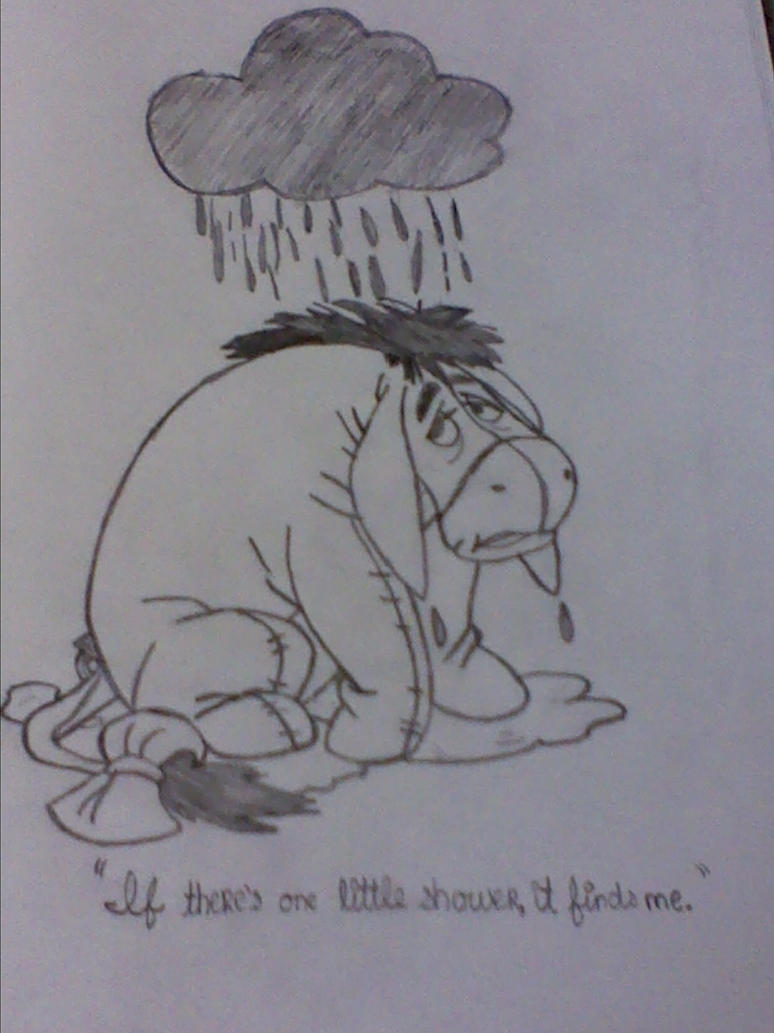 Eeyore In The Rain By Symphonicnevermore On Deviantart