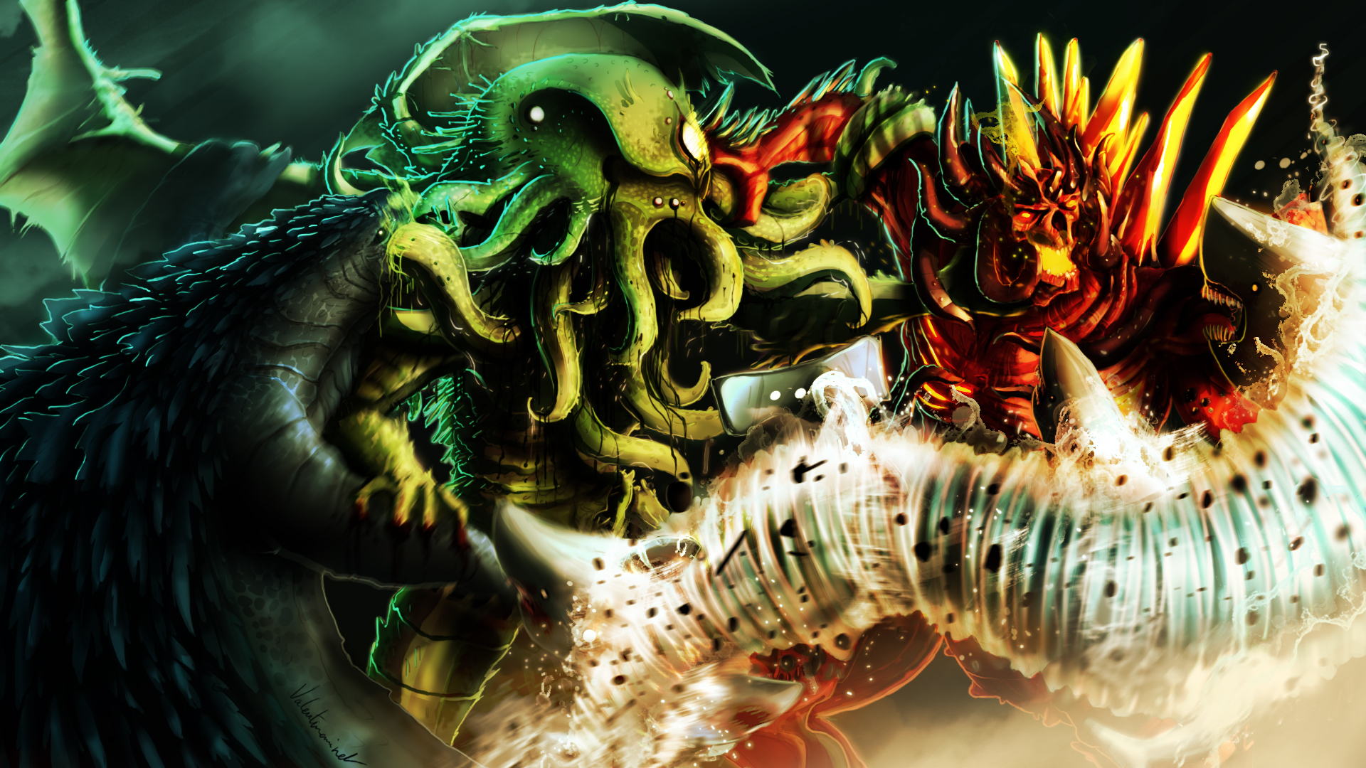 Godzilla Vs Cthulhu Poster