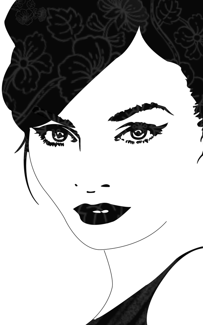 Woman Face Line Drawing Vector : Woman face by lucieisinthesky on deviantart
