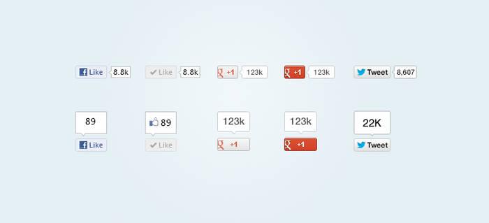 Social Media Buttons (PSD)