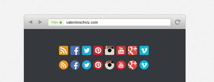Beautiful Chrome Browser (PSD)