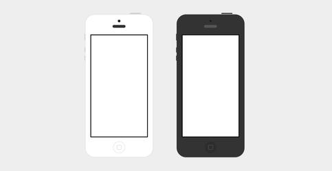 iPhone 5 Flat PSD