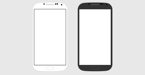 Samsung Galaxy S4 Flat (PSD)