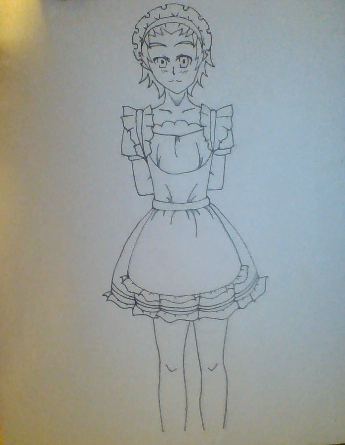 Isami Maid Outfit (outline) by GrimmjowRockstar