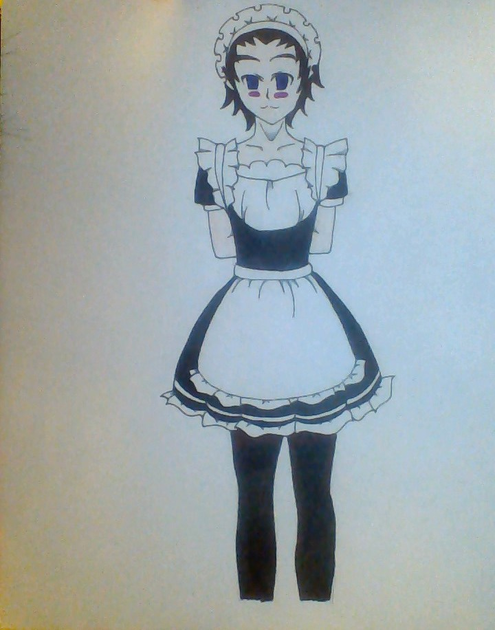 Isami Maid Outfit (colored version) by GrimmjowRockstar