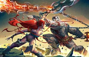 Kratos VS Nariko by warlockss