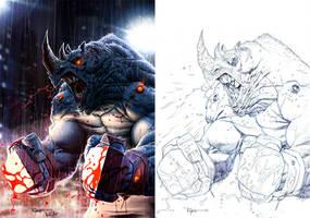 Mad Rhino by warlockss