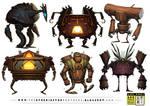 6 Wooden Robot