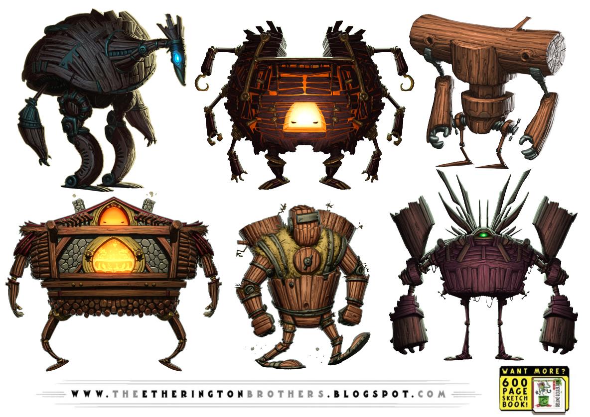 6 Wooden Robot by warlockss