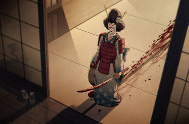 Geisha Samurai by warlockss