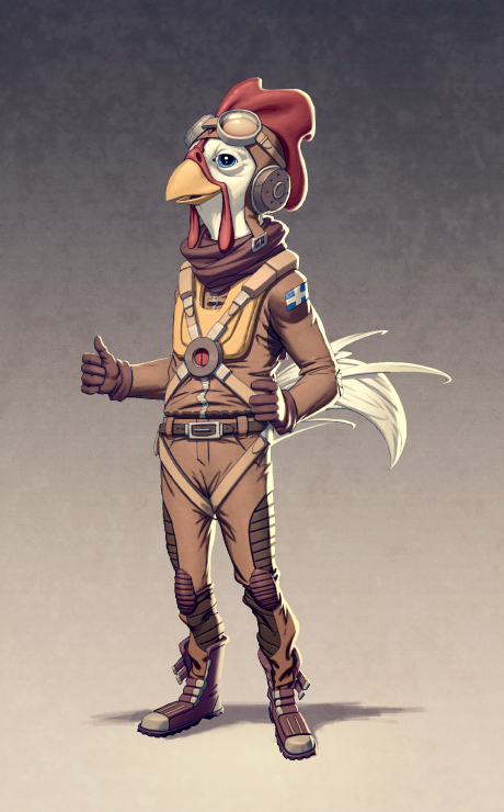 Chicken Aviator by warlockss