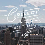 Collect Moments Not Things Logo Design