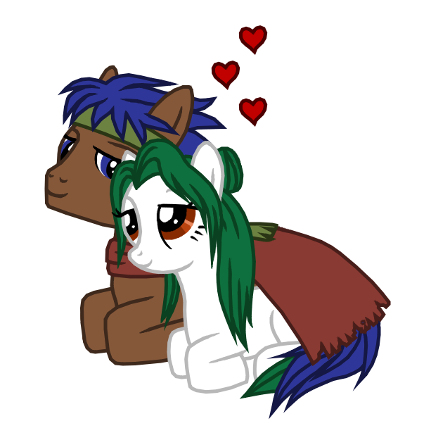pony_ike_and_pony_elincia_by_great_aether-d5bk4ut.png