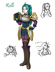 Kelli (Awakening tactician/Robin) by Great-Aether