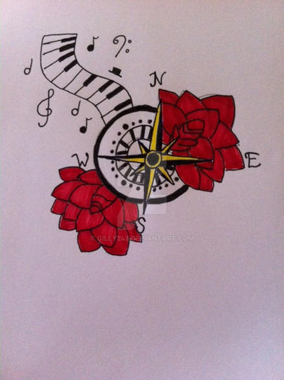 Compass rose tattoo design by Gilly243 on DeviantArt