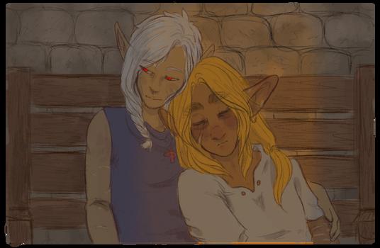 I have never drawn them kiss and i am sad