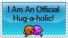 Hug-a-holic Stamp by Athenas88