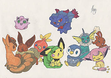 Poke Family by Noohime