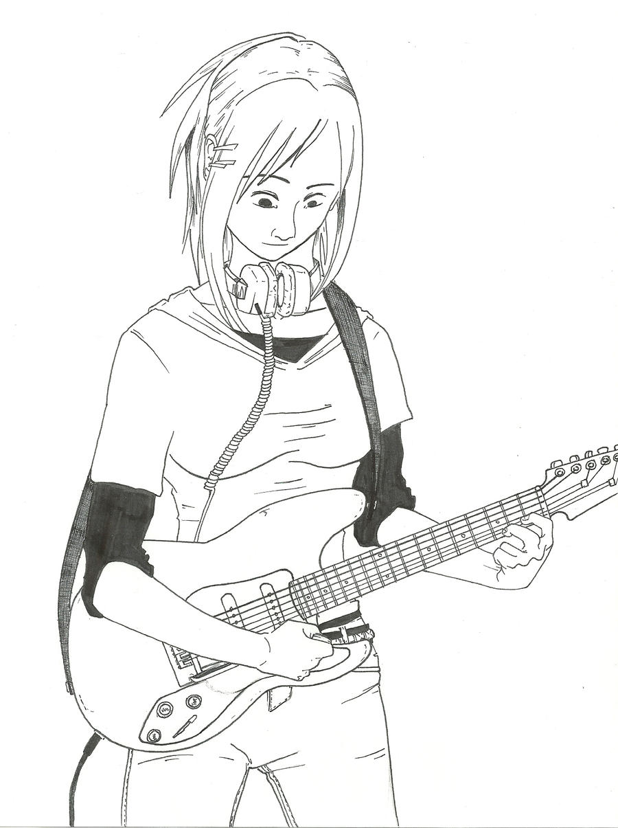 Guitar Girl By ProjectAnonymus On DeviantArt