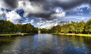 Pond and Clouds