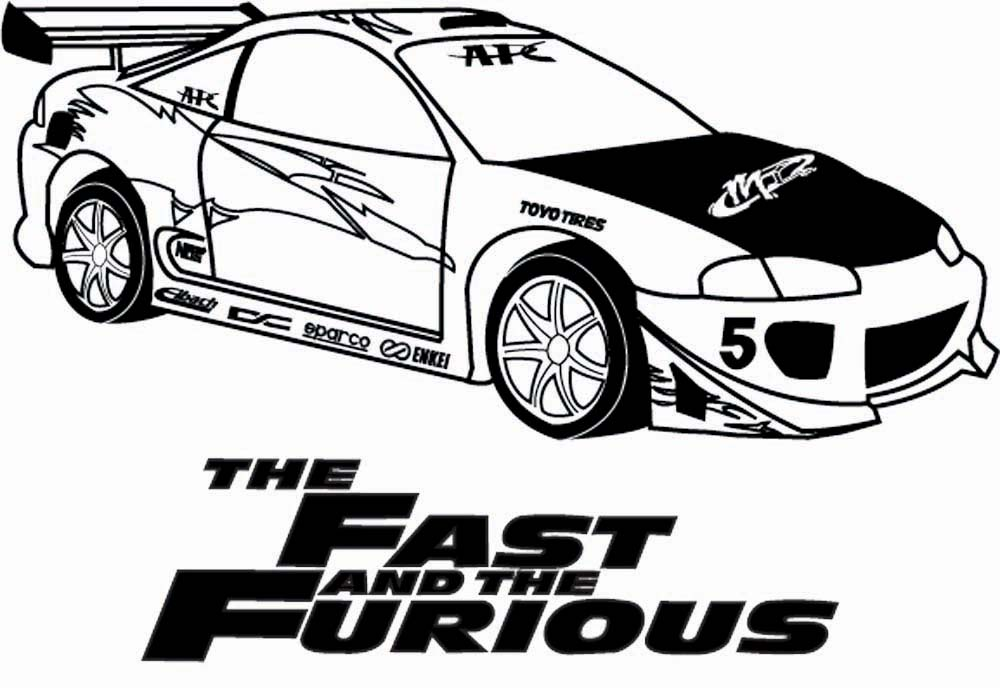 Fast And Furious Eclipse 44615768 on dodge challenger coloring pages