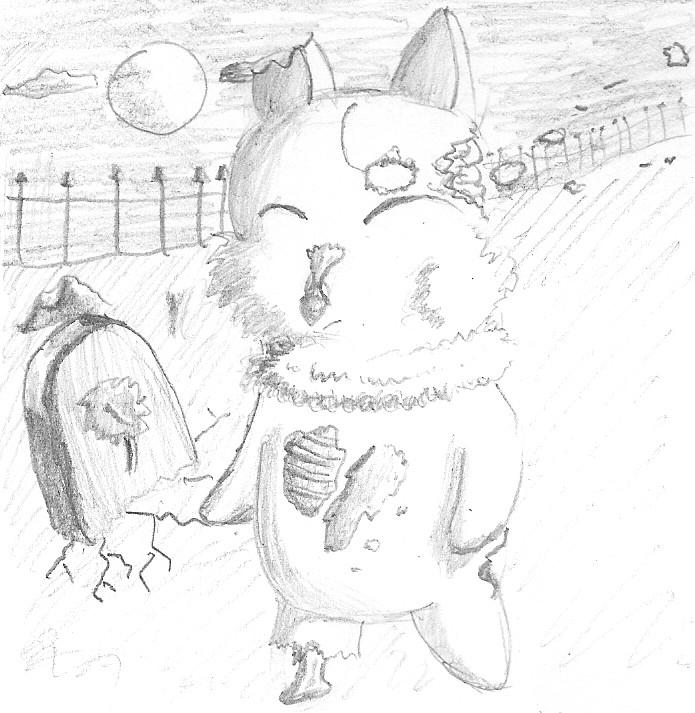Zombie Moogle by Tela-Ferrum