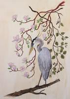 Heron bleu by vanessa-lim