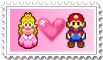 MarioXPeach Stamp. by pinkprincess-peach