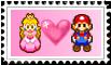 MarioXPeach Stamp. by pinkprincess-peach