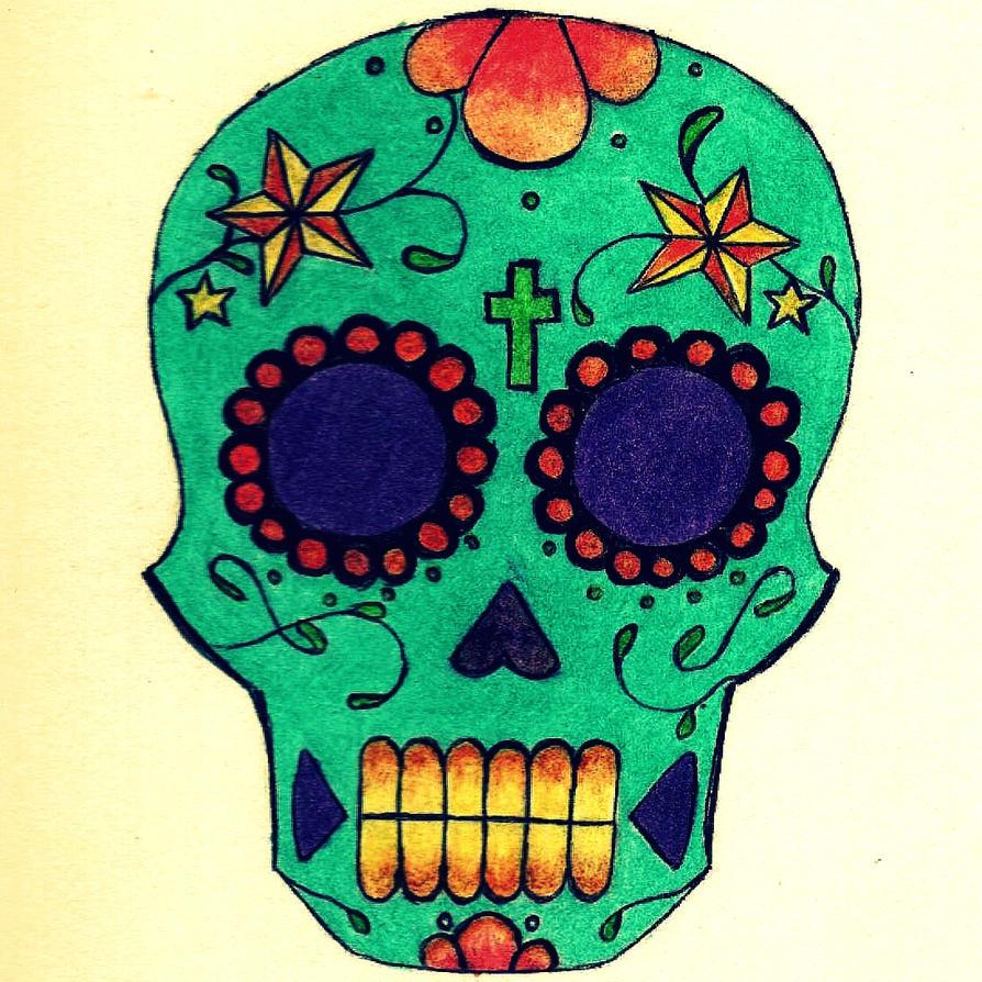 sugar skull by lycanthropeliz on deviantart
