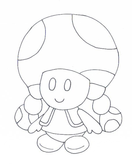 Toadette And Toad Coloring Pages
