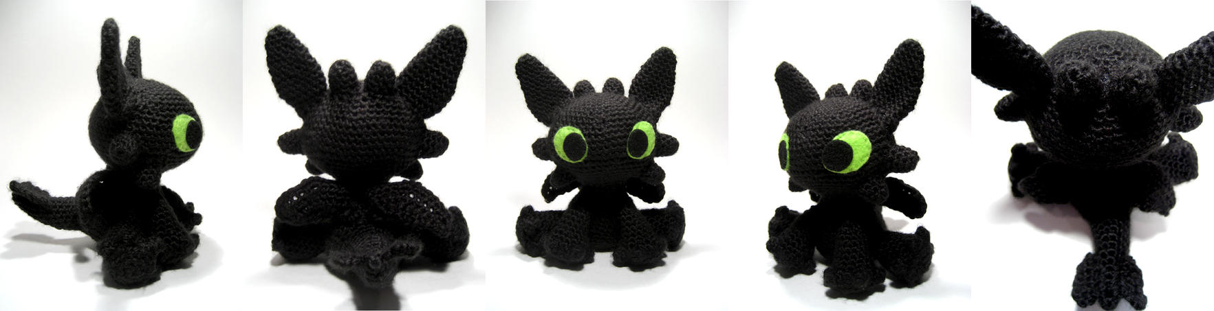 Knitting Pattern Toothless Dragon : Toothless Dragon Crochet Pattern Free