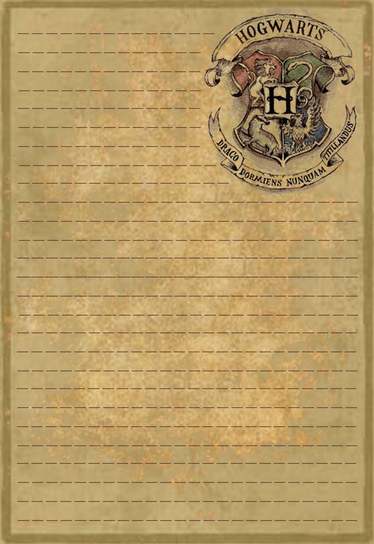 hogwarts letterhead stationery by sinome