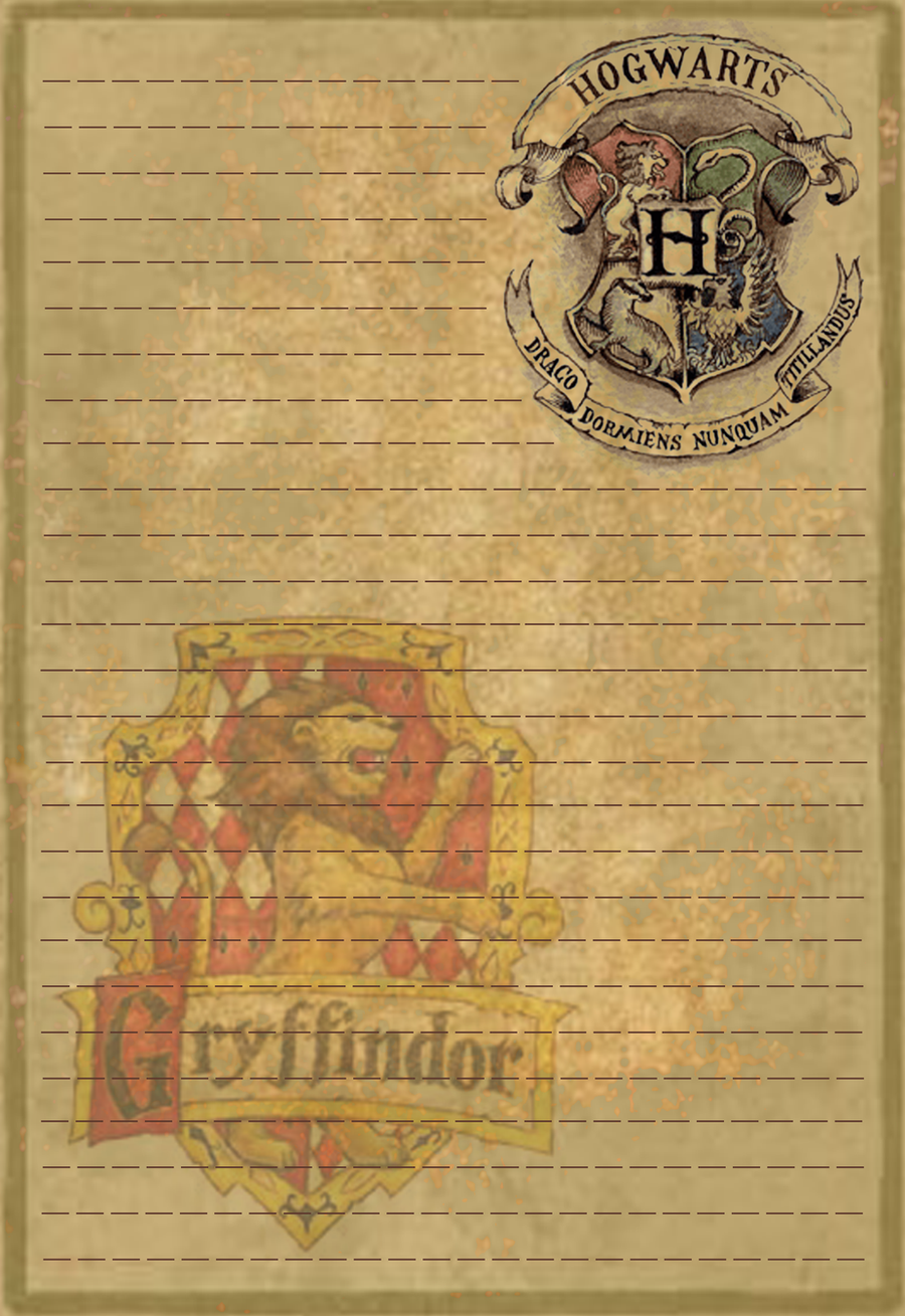 Gryffindor Stationery Option1 by Sinome-Rae on DeviantArt