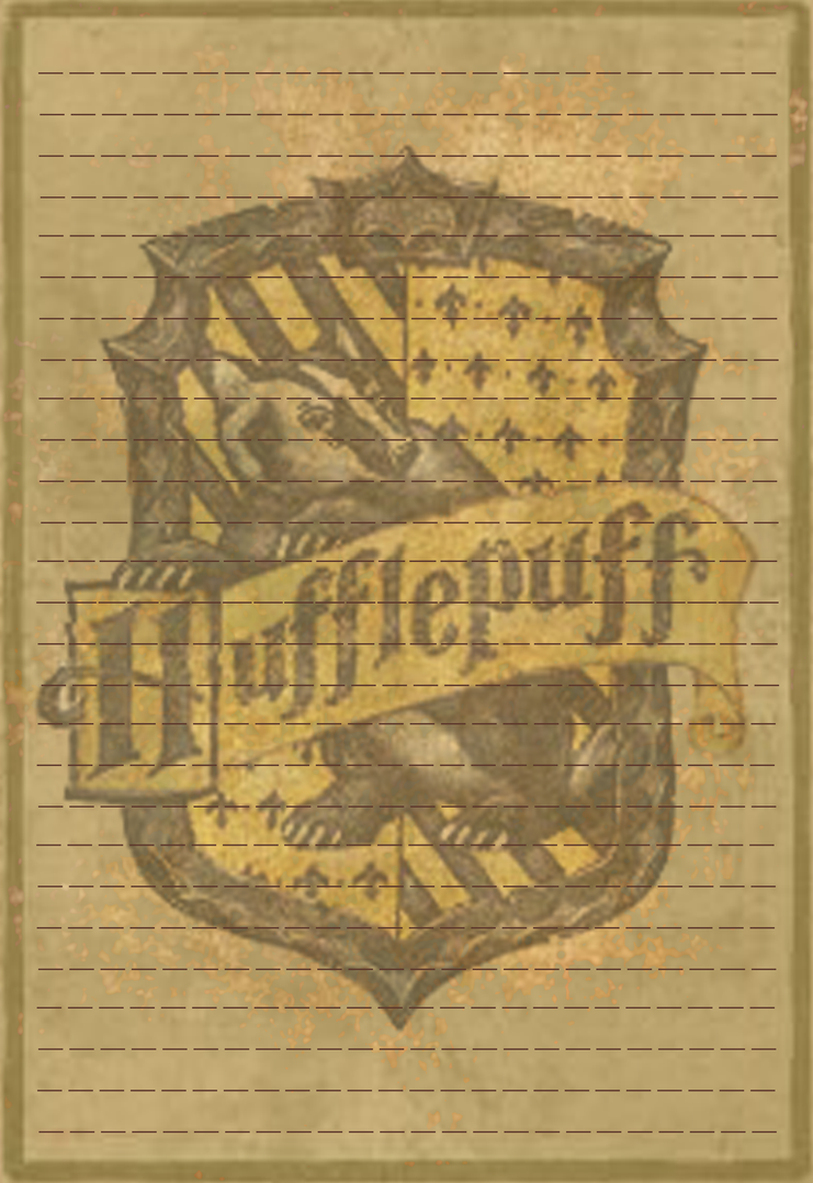 Hufflepuff Stationery Option3 by Sinome-Rae