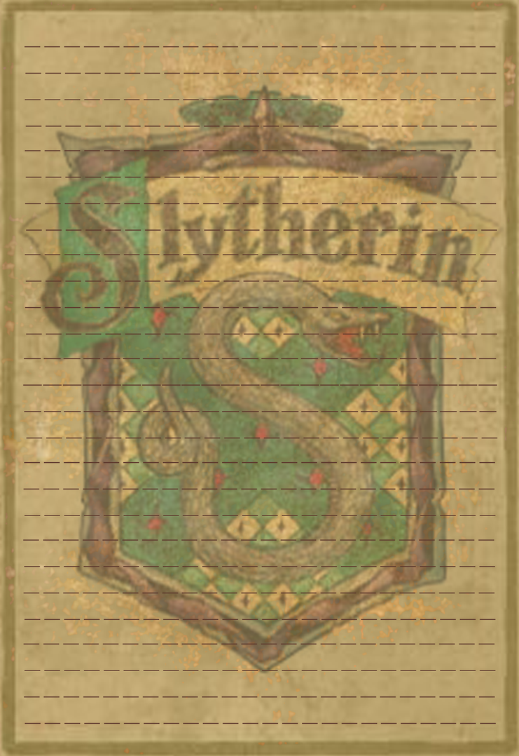 Slytherin Stationery Option3 by Sinome-Rae