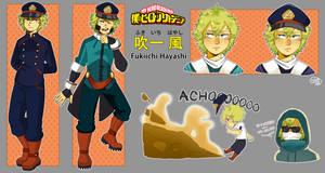 BNHA OC - Fukiichi Hayashi by SilentSnow777