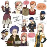 [BNHA] Fantasy AU Doodles