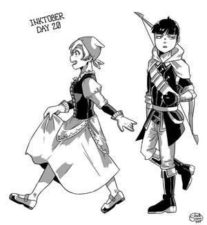 BNHA Inktober - [Day 20] Fantasy AU