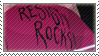 RESISTY ROCKS Stamp by schneckomann