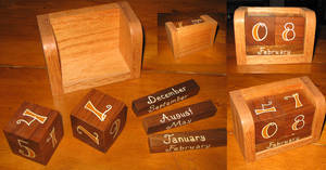 Wood Dice Calendar