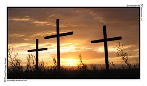 Three Crosses Sunset