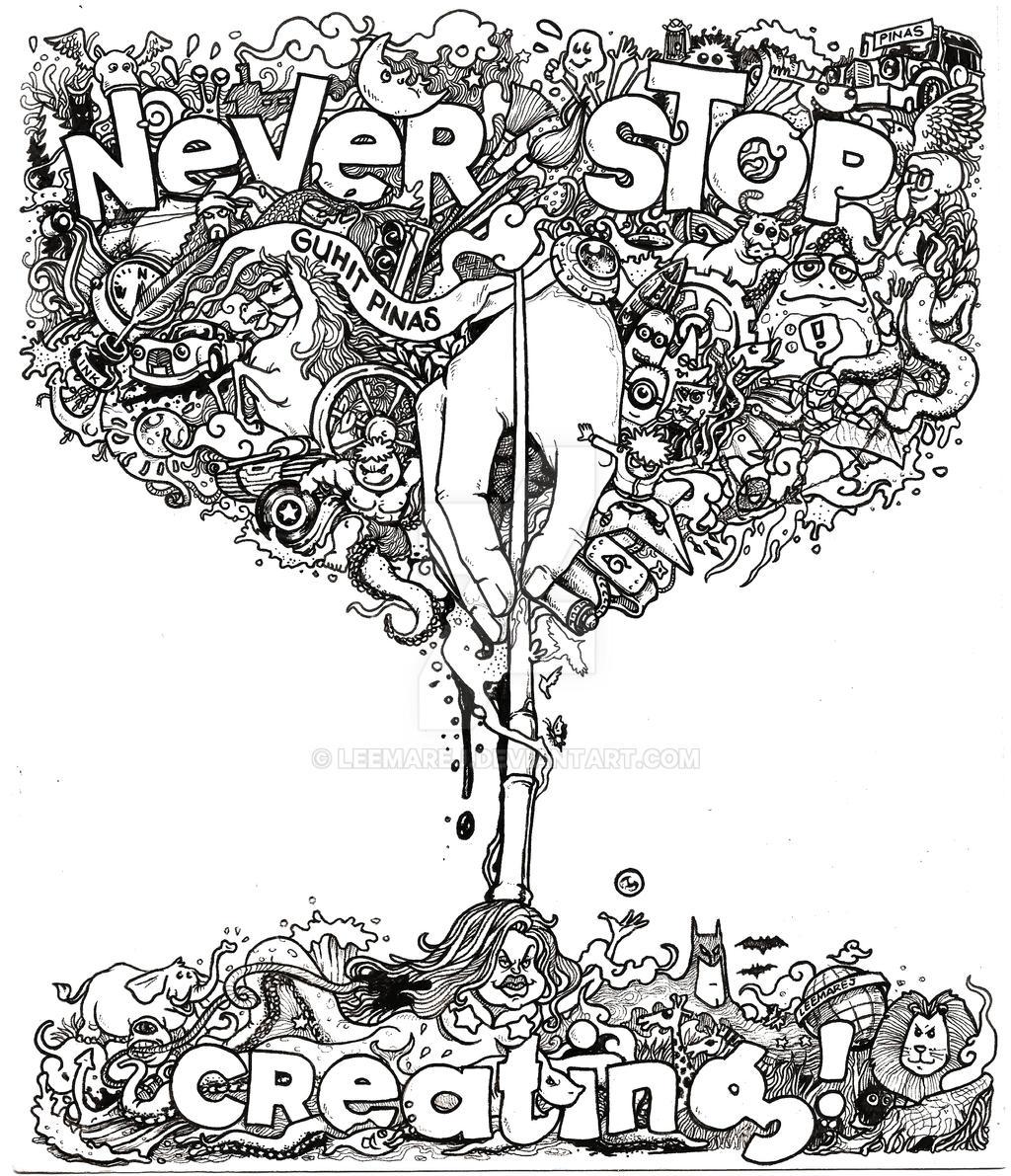 Doodle never stop creating by leemarej on deviantart