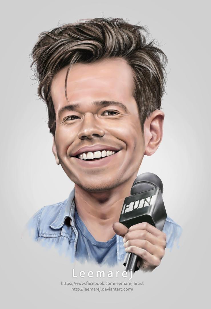 Nate Ruess caricature by leemarej
