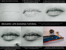 Realistic lips drawing tutorial