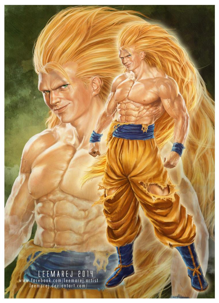 Real Goku Super Saiyan 3 attempt by leemarej