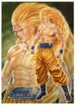 Real Goku Super Saiyan 3 attempt
