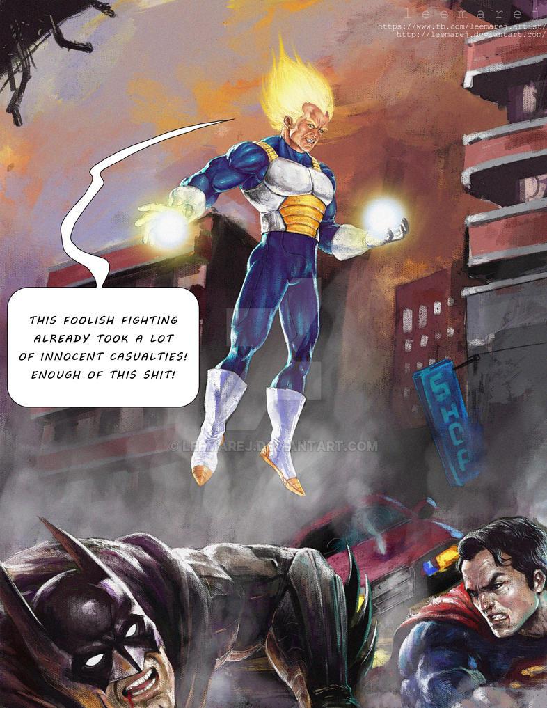 DBZ vs batman vs superman by leemarej on DeviantArt