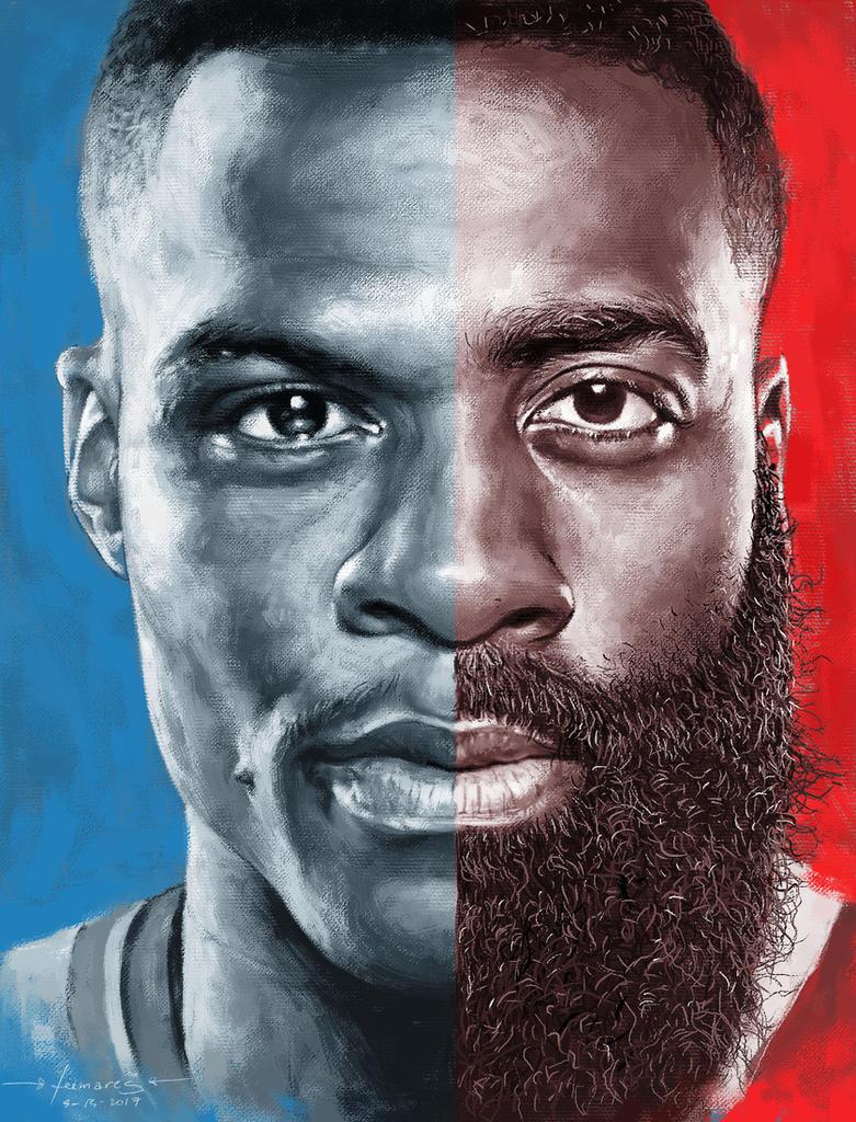 Beast vs Beard by leemarej